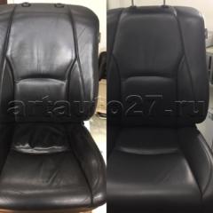 kozha rx300 1 240x240 - Реставрация водительского кресла Lexus RX 300