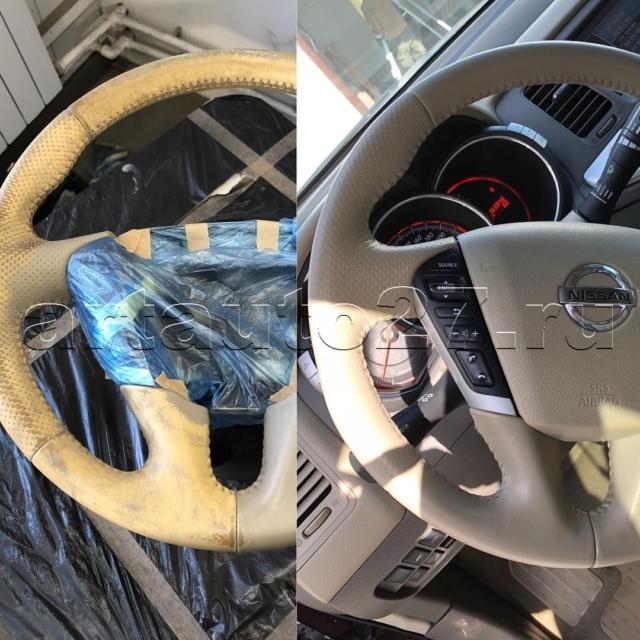 Реставрация салона Nissan Murano и химчистка