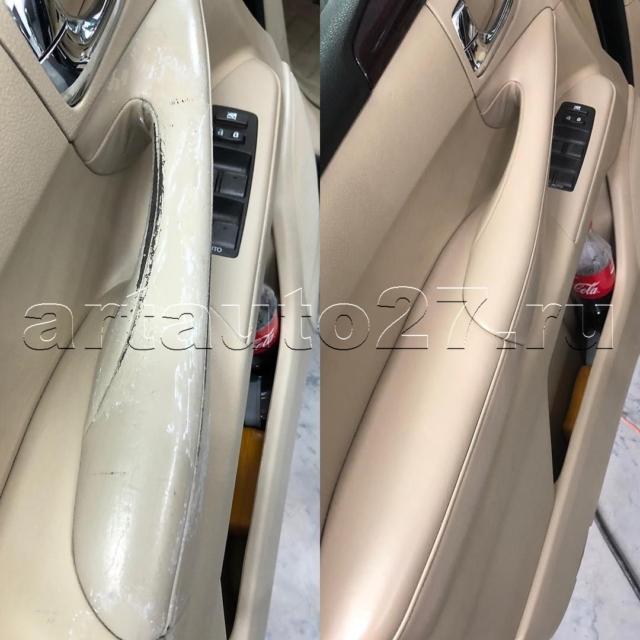 Реставрация водительского сидения, подлокотника и дверных карт Lexus 570