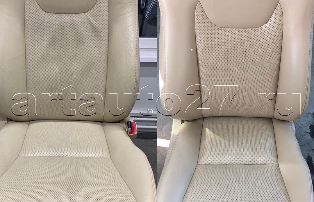 Реставрация кожи автомобиля Lexus 450